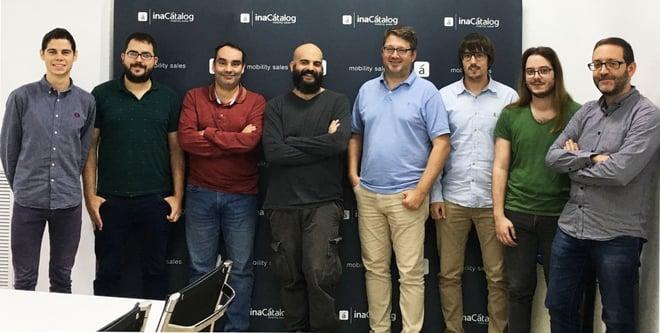 Nuestro equipo de I+D+I junto a José Manuel Montero