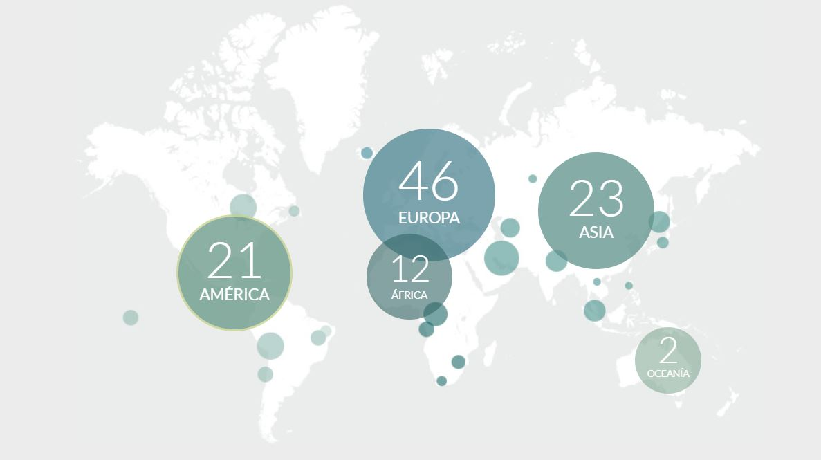 mapa paises